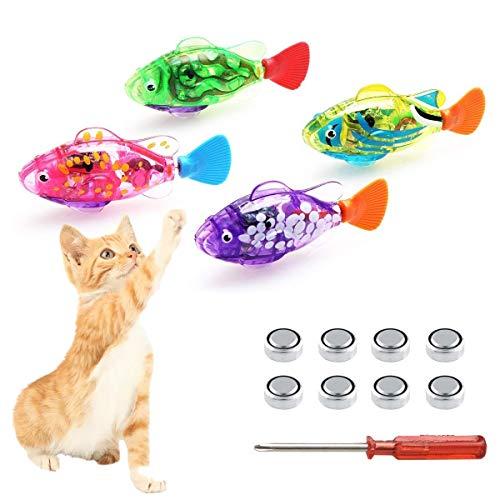 Schwimmroboter Fisch für Katzen, interaktives...