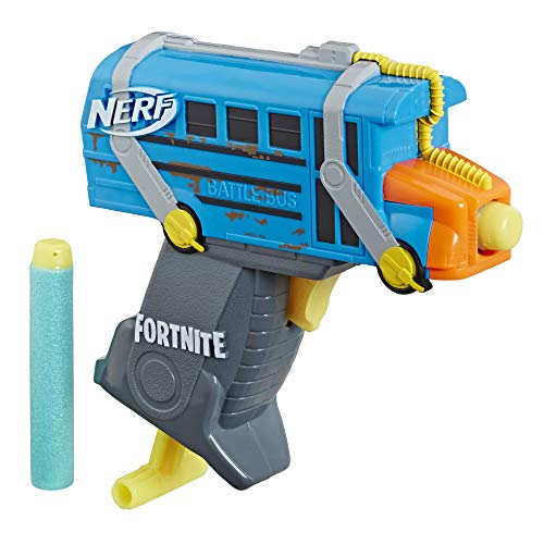 NERF Fortnite Mikro Battle Bus MicroShots Dart Blaster und 2...