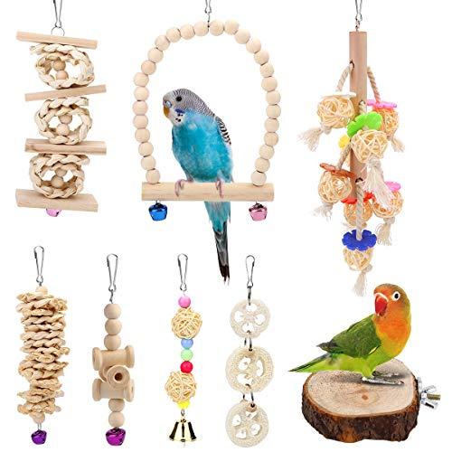 Vegena Vogelspielzeug, 8er Set Vögel Holzleiter Spielzeug mit...