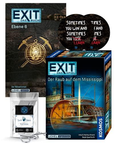EXIT Das Spiel - Set: Der Raub auf dem Mississippi + Ebene 6...