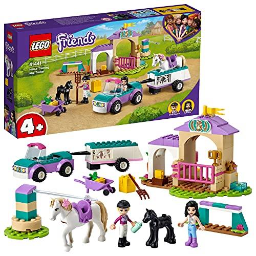 LEGO 41441 Friends Trainingskoppel und Pferdeanhänger, Spielzeug...