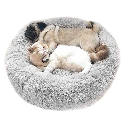 Cozywind Hundebett Flauschig, rundes Haustierbett Hundekissen...