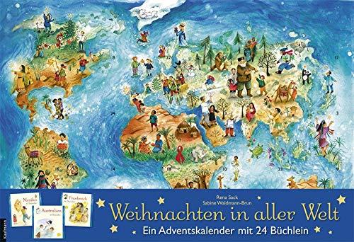 Weihnachten in aller Welt: Adventskalender mit 24 Büchern...
