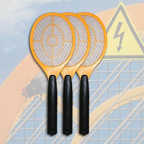 Di-Nesh 3 x Elektrisch Gelb Fliegenklatsche Insektenvernichter...