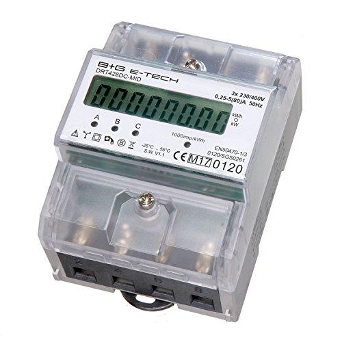B+G e-tech DRT428DC-MID - LCD digitaler Drehstromzähler...