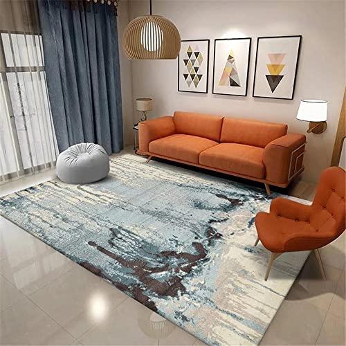 Tepiche Für Schlafzimmer blau Teppich Wohnzimmer rund...