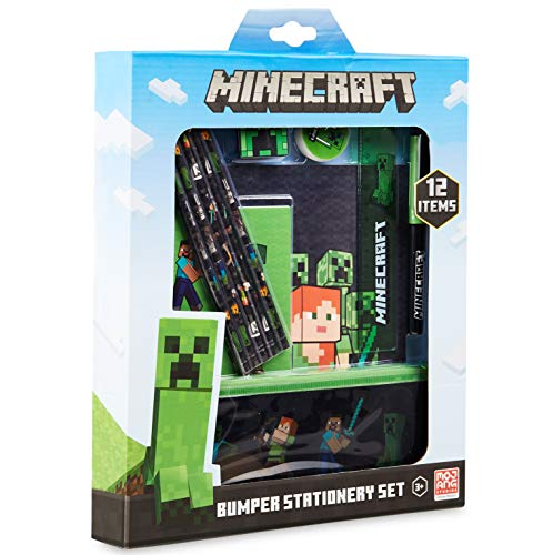 Minecraft Schulsachen, Stifte Set mit Federtasche Junge,...