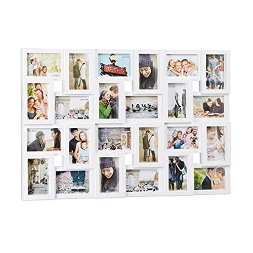 Relaxdays XXL Bilderrahmen Collagen für 24 Bilder in 10 x 15,...