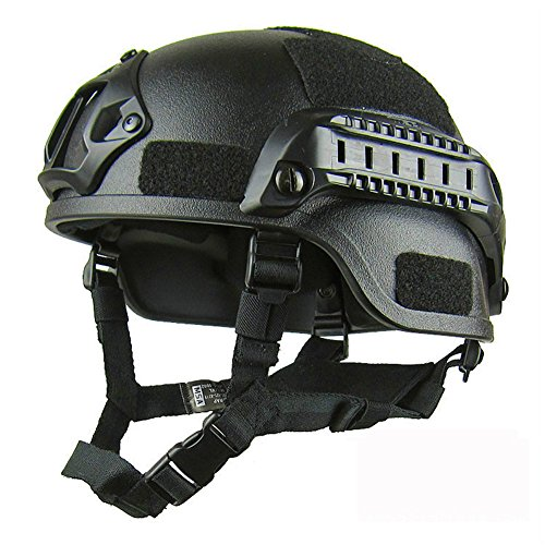 Taktische Helm, Armee Militär Stil Schutz Airsoft Paintball Schnell Helm für Außen Sports...