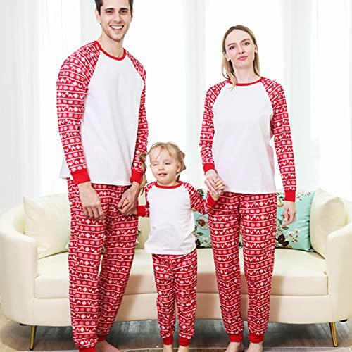 Weihnachts Pyjama Familie Schlafanzug Rentier Streifen Pyjamas...