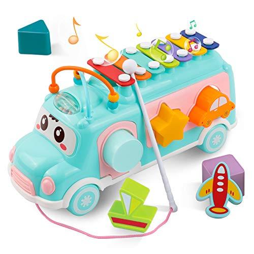 DeeXop Baby Spielzeug 1 2 3 Jahre, Musik Bus Spielzeug mit...