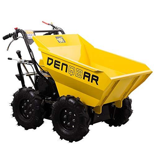 DENQBAR Mini-Dumper Motor-Schubkarre Muldenkipper Allradantrieb...