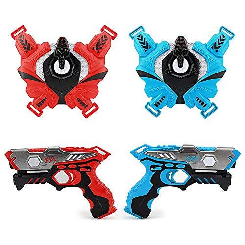 LUKAT Infrarot Laser Tag Set, 2 Pistole LaserTag-Blaster für...