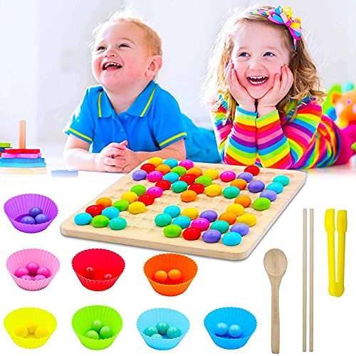 Sunshine smile Holz Clip Beads Brettspiel,Early Education Puzzle...
