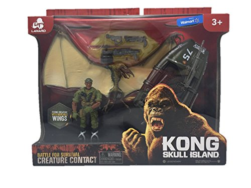 Kong Skull Island Creature Contact - Playset with Military Dinghy...