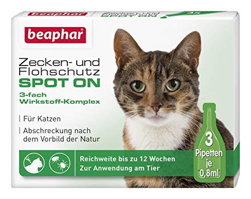 beaphar Zecken- und Flohschutz Spot On für Katzen, Zecken- und...