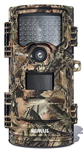 WiMiUS H7 Wildkamera, 16MP 1080P Wildkamera mit Bewegungsmelder...