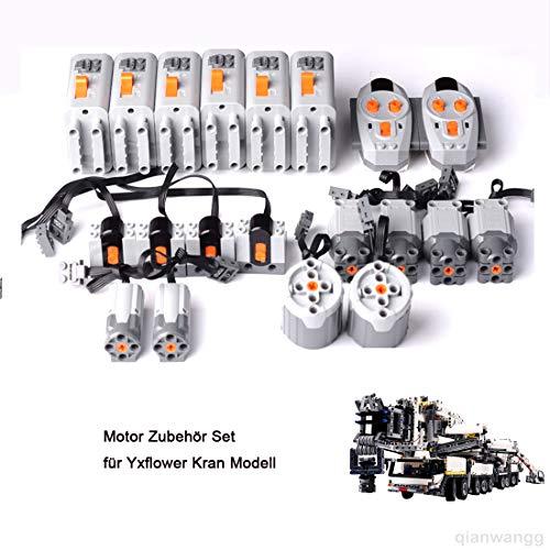 YxFlower Motor Zubehör Set für 7692 Stück Custom Bausteine...