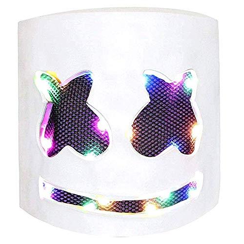 LED DJ Maske Party Bar Musik Cosplay Halloween Helm für Kinder...