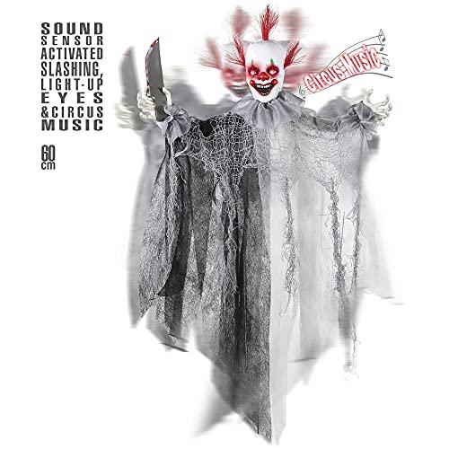 Widmann 01392 - Killer Clown mit Messer, animiert mit leuchtenden...