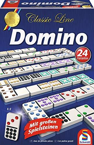 Schmidt Spiele 49207 Classic Line, Domino, mit großen...