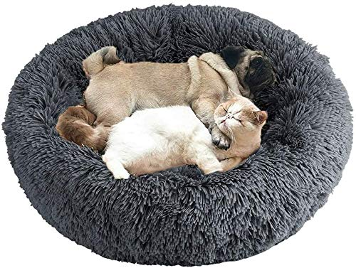 Wuudi Haustierbett, Hundebett Katzenbett Flauschig Rund...