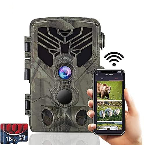 SUNTEKCAM WLAN Wildkamera 2.7K 24MP Bluetooth Jagdkamera mit...