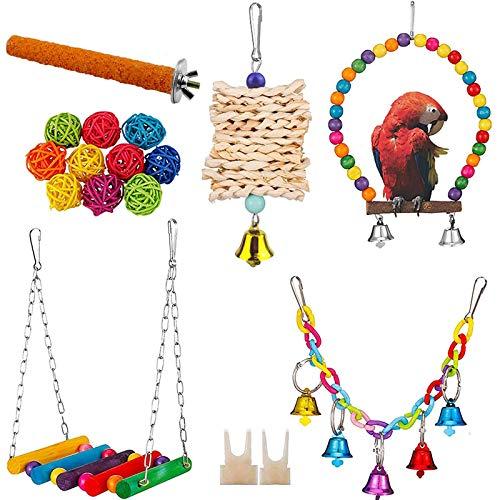 X-zoo 7er Vogelspielzeug für Vögel, Papageienspielzeug Stehende...
