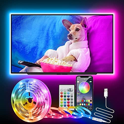 LED TV Hintergrundbeleuchtung, CGN 2.5M LED Strip Bluetooth für...