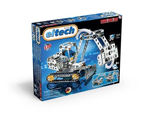 Eitech 00011 - Metallbaukasten - Minibagger / Kran Set,...