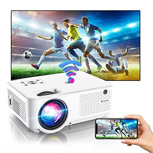 BOMAKER Mini Beamer 4K, 7000 Full HD WiFi Beamer, 1280P Support,...