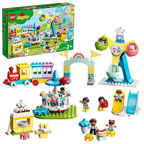 LEGO 10956 DUPLO Erlebnispark, Kinderspielzeug ab 2 Jahre mit...