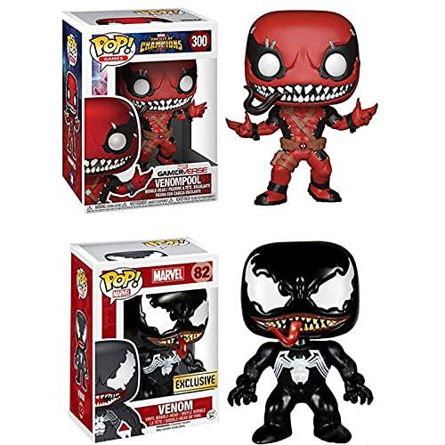 2Pcs Venom Movies Series Pop Vinyl Figur #300 Deadpool Venom...