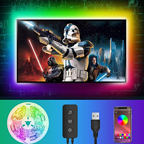 LED Strip 4M, LED Streifen RGB LED TV Hintergrundbeleuchtung,...