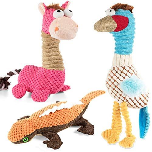 VIEWLON Hundespielzeug Quietschendes, 3er-Pack Hund...
