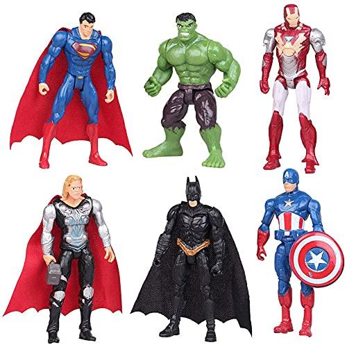 CYSJ 6 PCS Cake Decoration - Superhero Avengers Figurine Play Set...