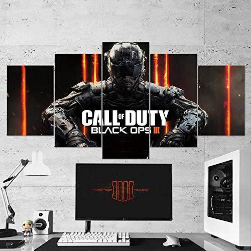 Gmoope Wandbild Leinwand Call of Duty Black Ops 3-Spiele 5 Teilig...
