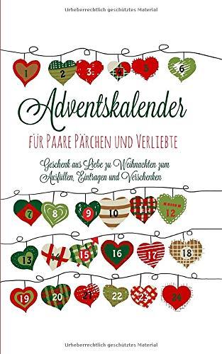 Adventskalender für Paare Pärchen und Verliebte Geschenk aus...