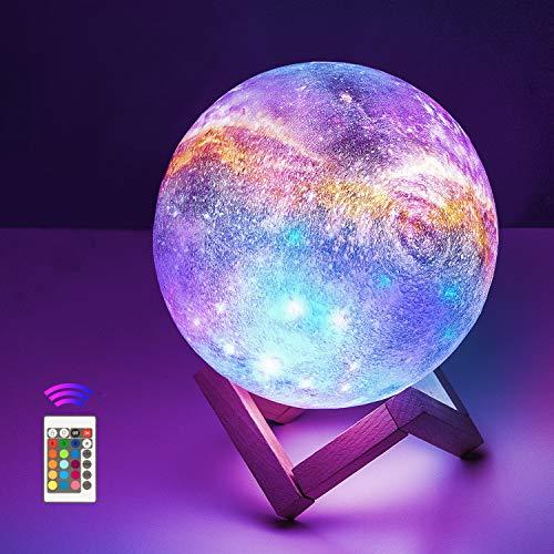 Mondlampe,OxyLED 15cm Nachtlicht mit Fernbedienung Dekoleuchte 3D...