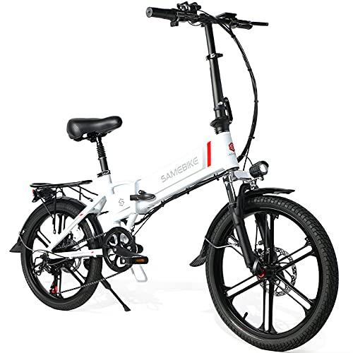SAMEBIKE 20 Zoll Elektrofahrrad E-Bike, Klappbares Citybike...