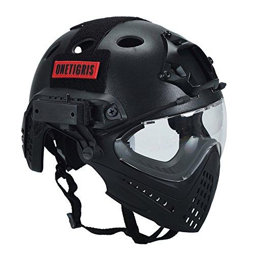 OneTigris Taktische Helm mit Maske und Schutzbrille für Softair...