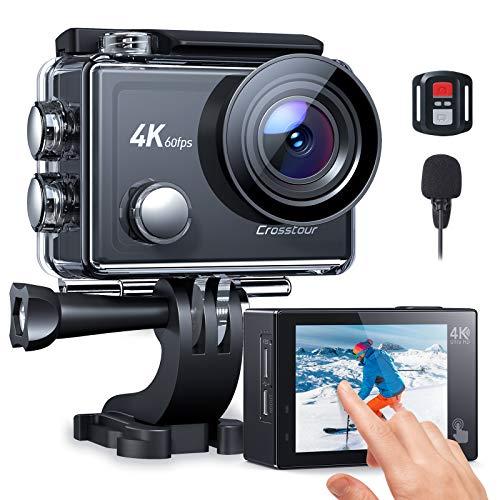 Action Cam 4K/60FPS, Crosstour CT9900 Touchscreen...