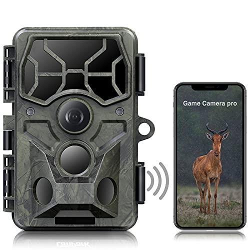 [2021 NEUESTE] Echte 4K 30MP Wildkamera WLAN Bluetooth, Wildlife...