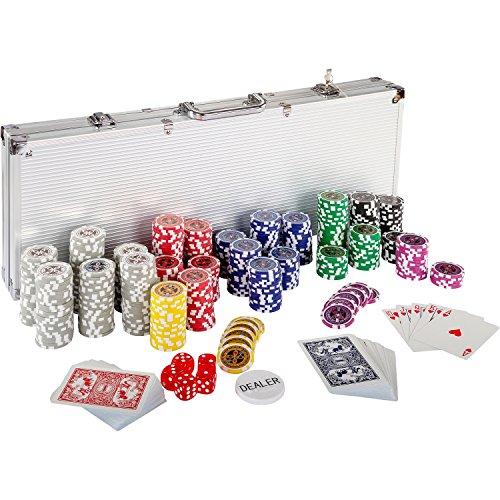 Ultimate Pokerset mit 500 hochwertigen 12 Gramm METALLKERN...