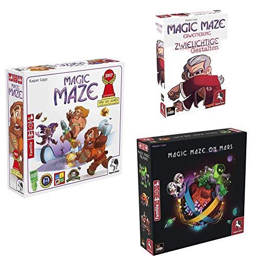 Pegasus Spiele 57200G - Magic Maze + Zwielichtige Gestalten +...