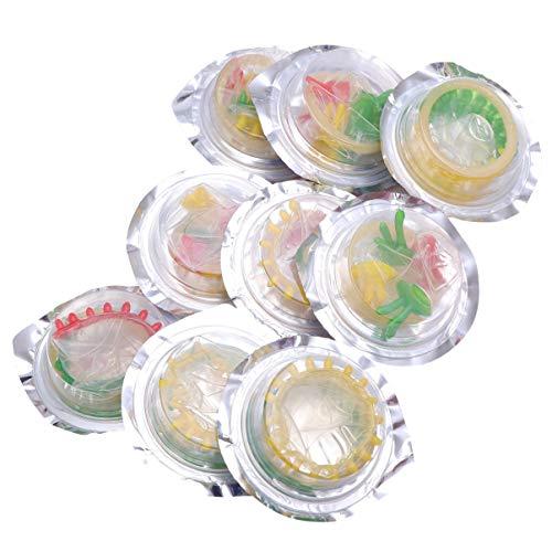 LUOEM 10 Stück Latex Kondome Blume Bunte Gesundheit Kondom...