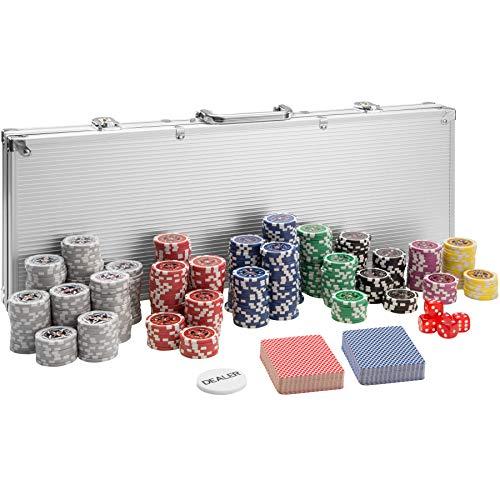 TecTake 402559 Pokerkoffer Pokerset mit Laser Pokerchips im Alu...