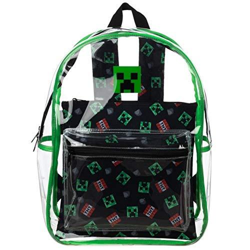 Minecraft Rucksack für Videospiele, mit abnehmbarer Tasche