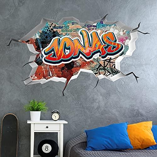 tjapalo®vr156 3D Wandtattoo Graffiti Name Wandaufkleber...