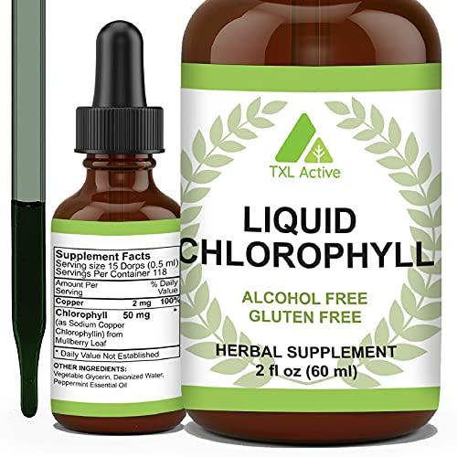 Chlorophyll Liquid Organic, Natürliches Deodorant,...